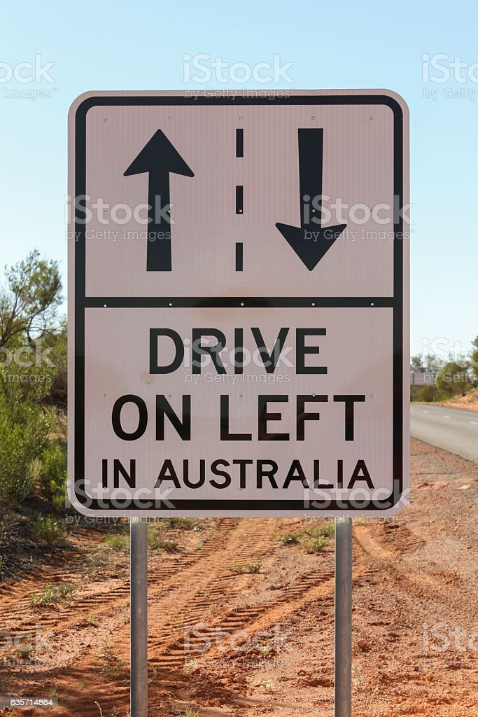 Drive on left road sign royalty-free stock photo