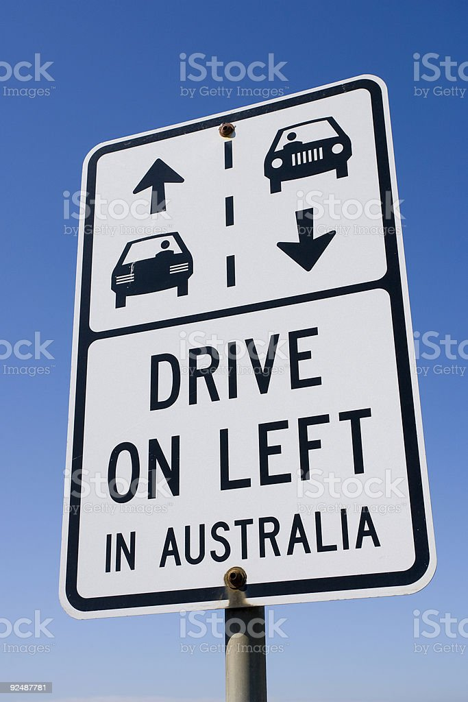 Drive on left sign royalty-free stock photo