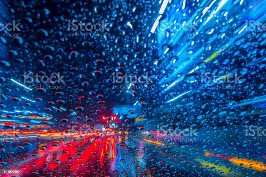 Drive rain stock photo