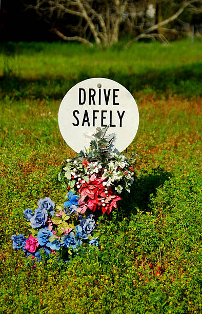 Drive Safely Memorial stock photo