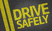 istock Drive Safely written on the road 467514262