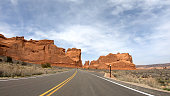 Drive through Arches National Park in Utah - travel photography