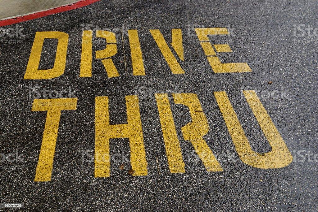Drive Thru sign royalty-free stock photo