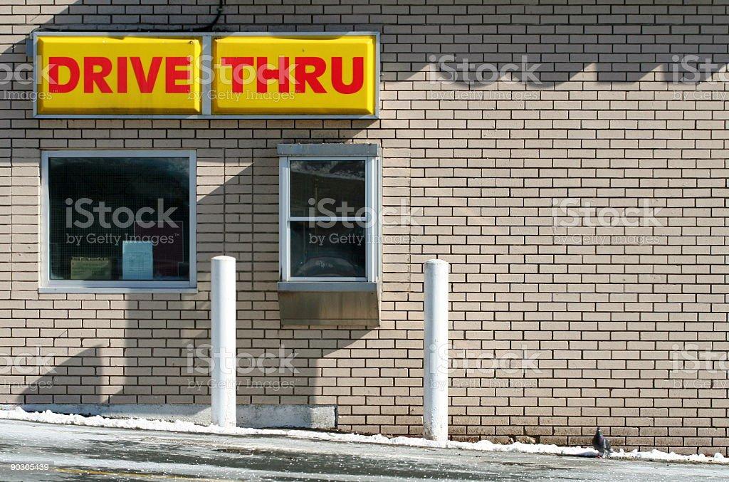 Drive Thru Window - 1 royalty-free stock photo