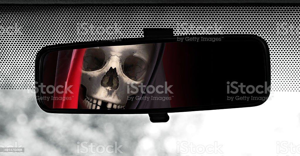 Drive with death. stock photo