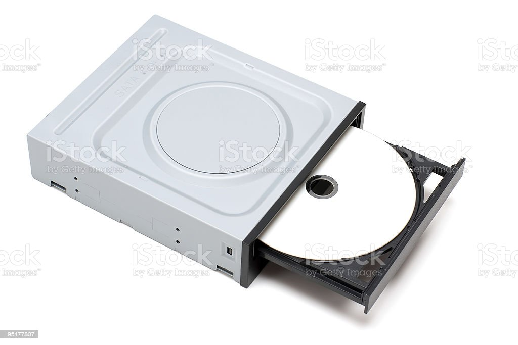 DVD Drive with disk royalty-free stock photo