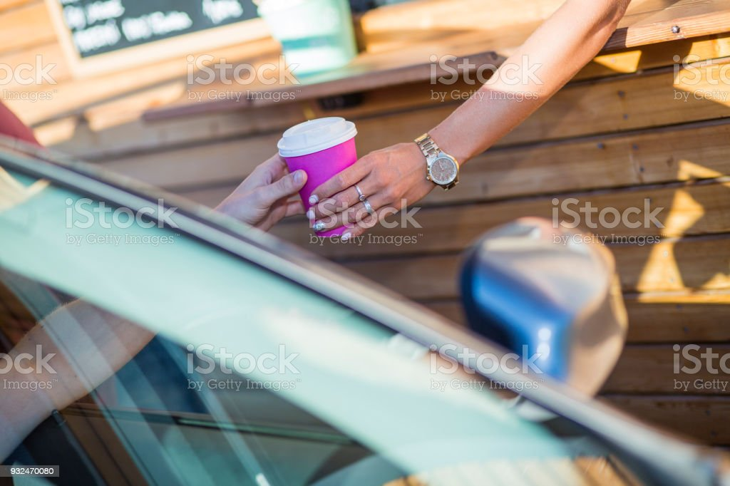 Drive-in caffe sale stock photo