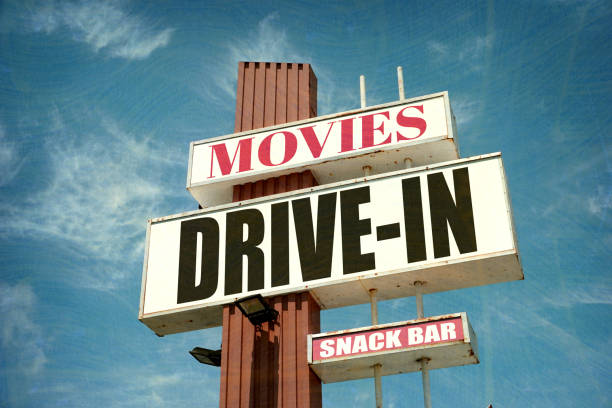 Drive-in movies stock photo
