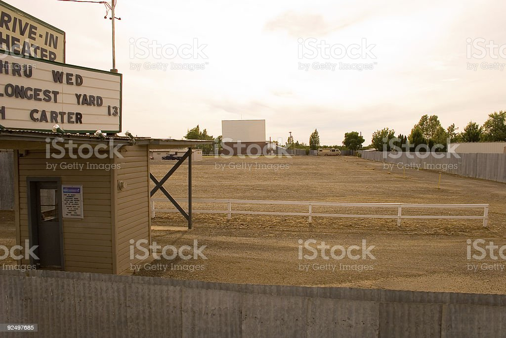 Drive-in theater royalty-free stock photo
