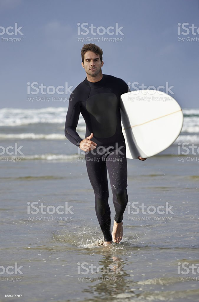 Driven to surf stock photo
