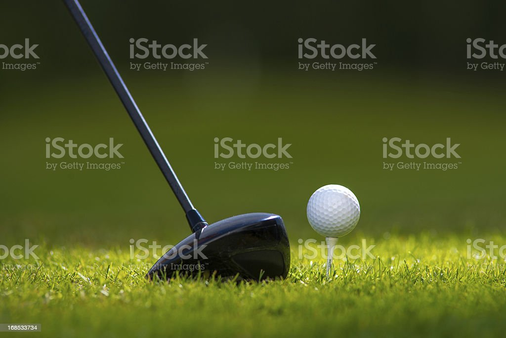 Driver and Golf Ball royalty-free stock photo