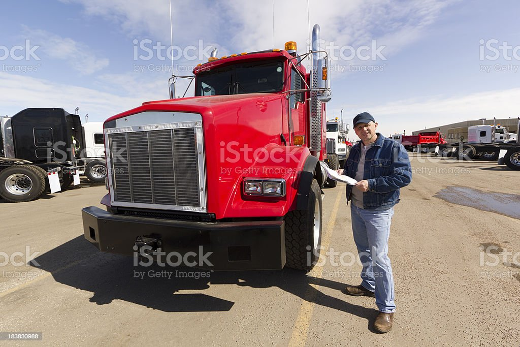 Driver and Truck royalty-free stock photo