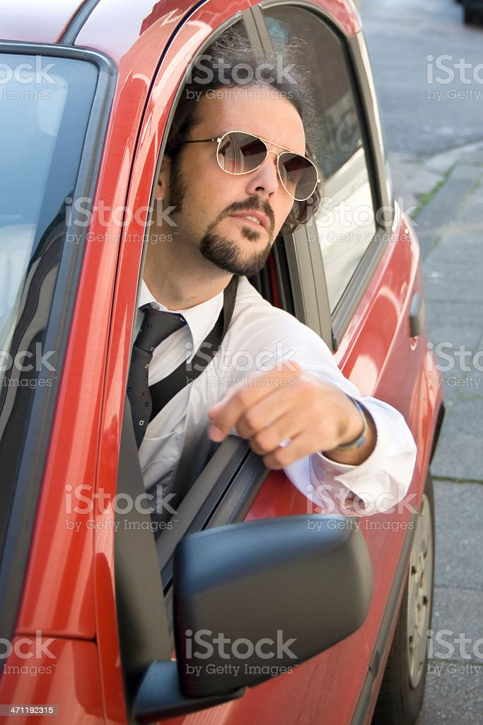 Driver asking directions royalty-free stock photo