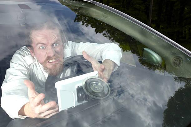 Fahrer wütend auf GPS-navigation eine wrong way – Foto