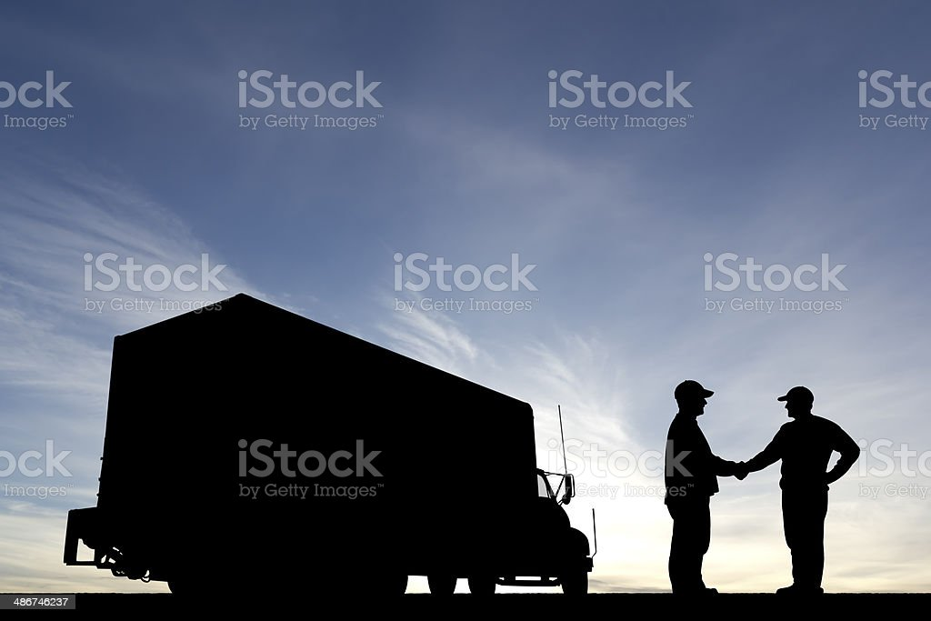Driver Handshake stock photo