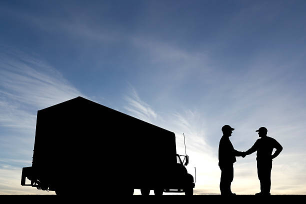 Fahrer Hände schütteln – Foto