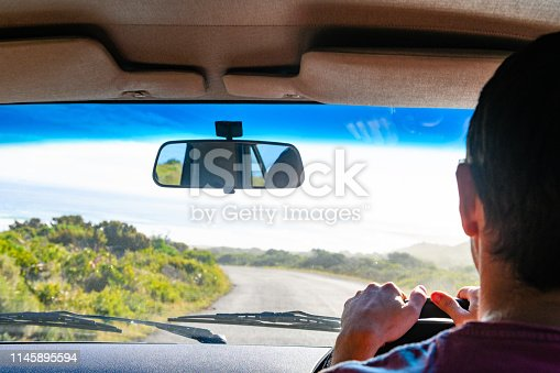 Driver Looking Ahead at Empty Road in South Africa