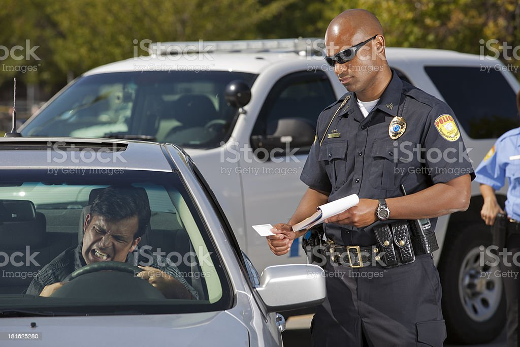 Driver mad at Citation stock photo