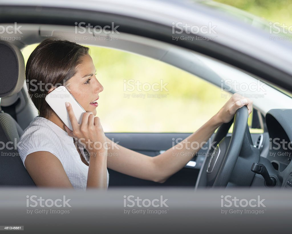 Driver speaking on the Phone stock photo