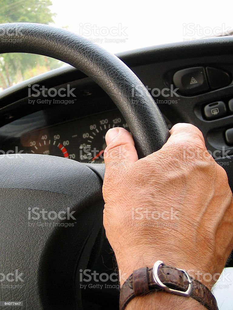 driver steering wheel royalty-free stock photo