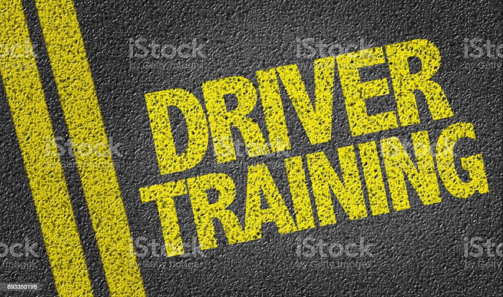 Driver Training stock photo