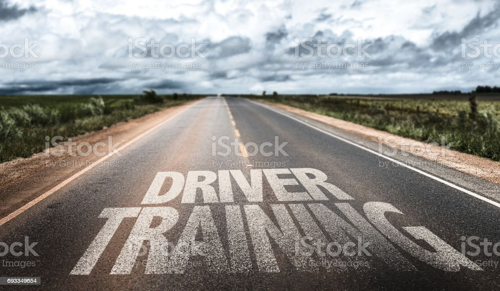 Driver Training sign stock photo