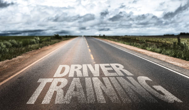 Driver Training sign Driver Training written on the road driving instructor stock pictures, royalty-free photos & images