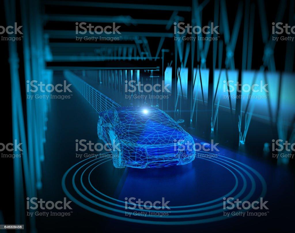 無人駕駛的、 自主的自動駕駛汽車圖像檔