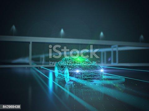 936364312istockphoto Driverless autopilot, autonomous vehicle 842969438