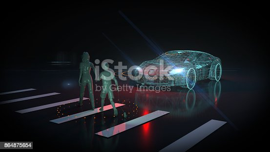 istock Driverless autopilot, autonomous vehicle 864875654