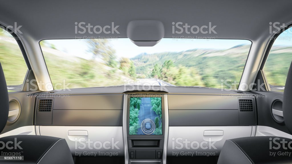 Driverless Car stock photo