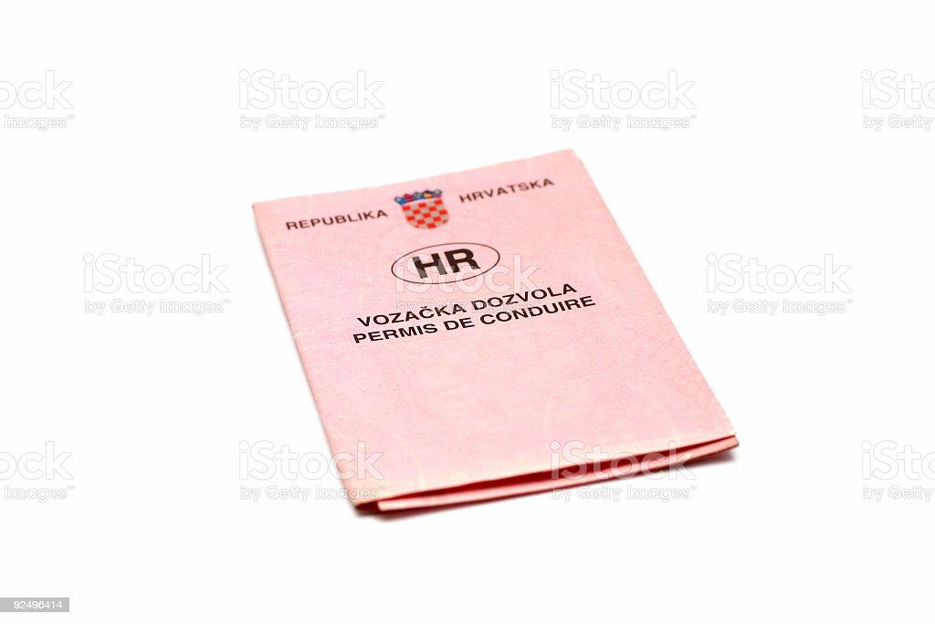drivers license croatian royalty-free stock photo