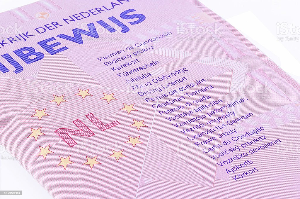 Drivers license. royalty-free stock photo