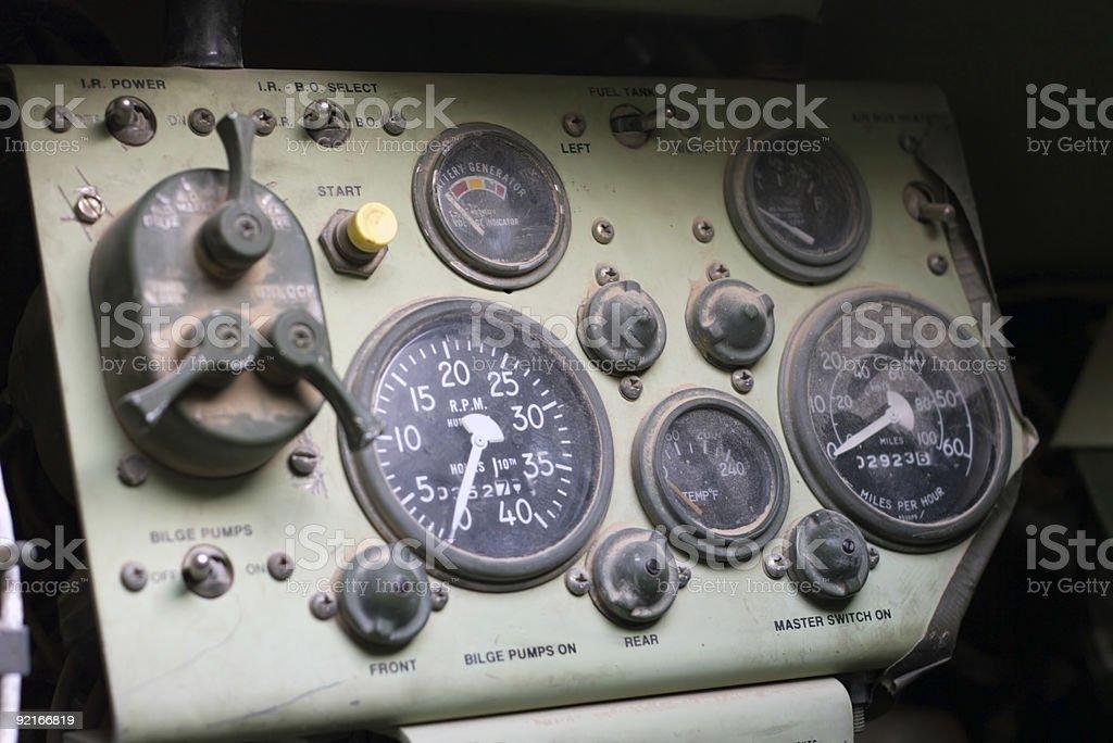 APC Driver's Seat stock photo