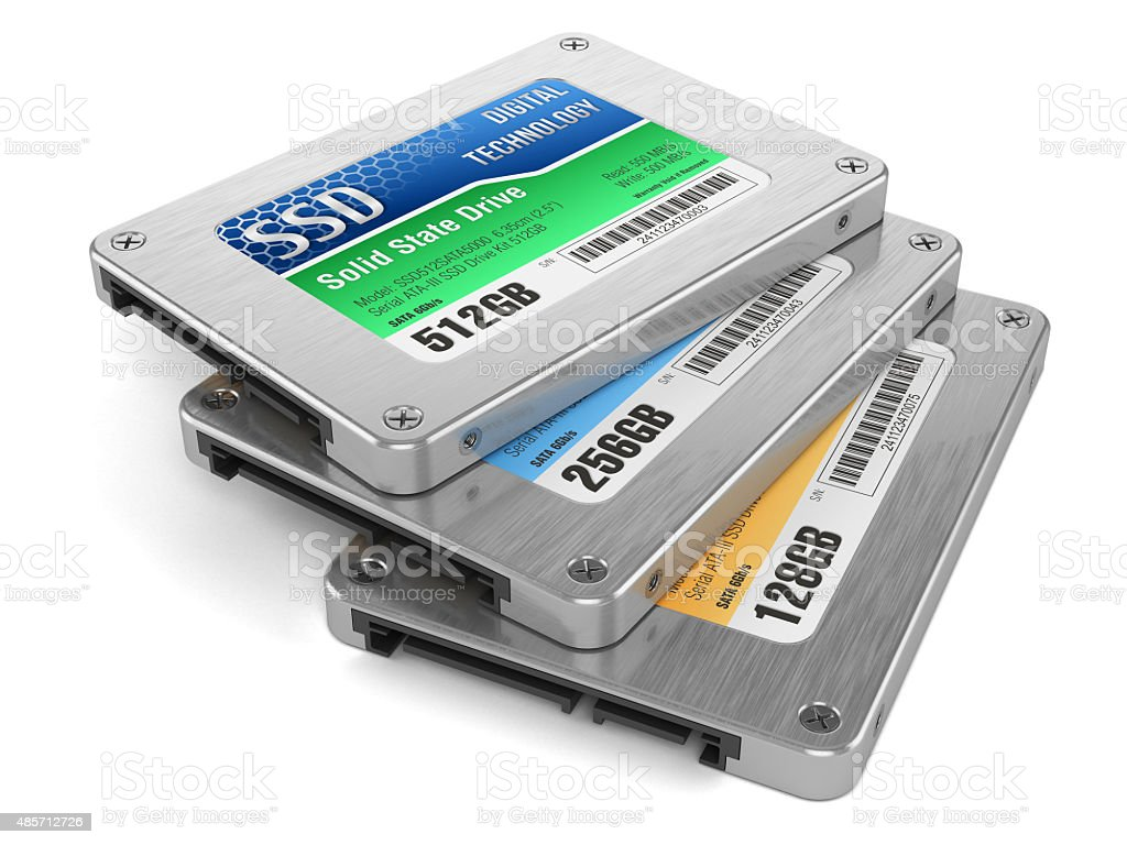 SSD drives, State solid drives stock photo