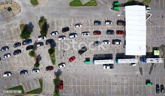 Drive-through covid testing in Dallas, TX