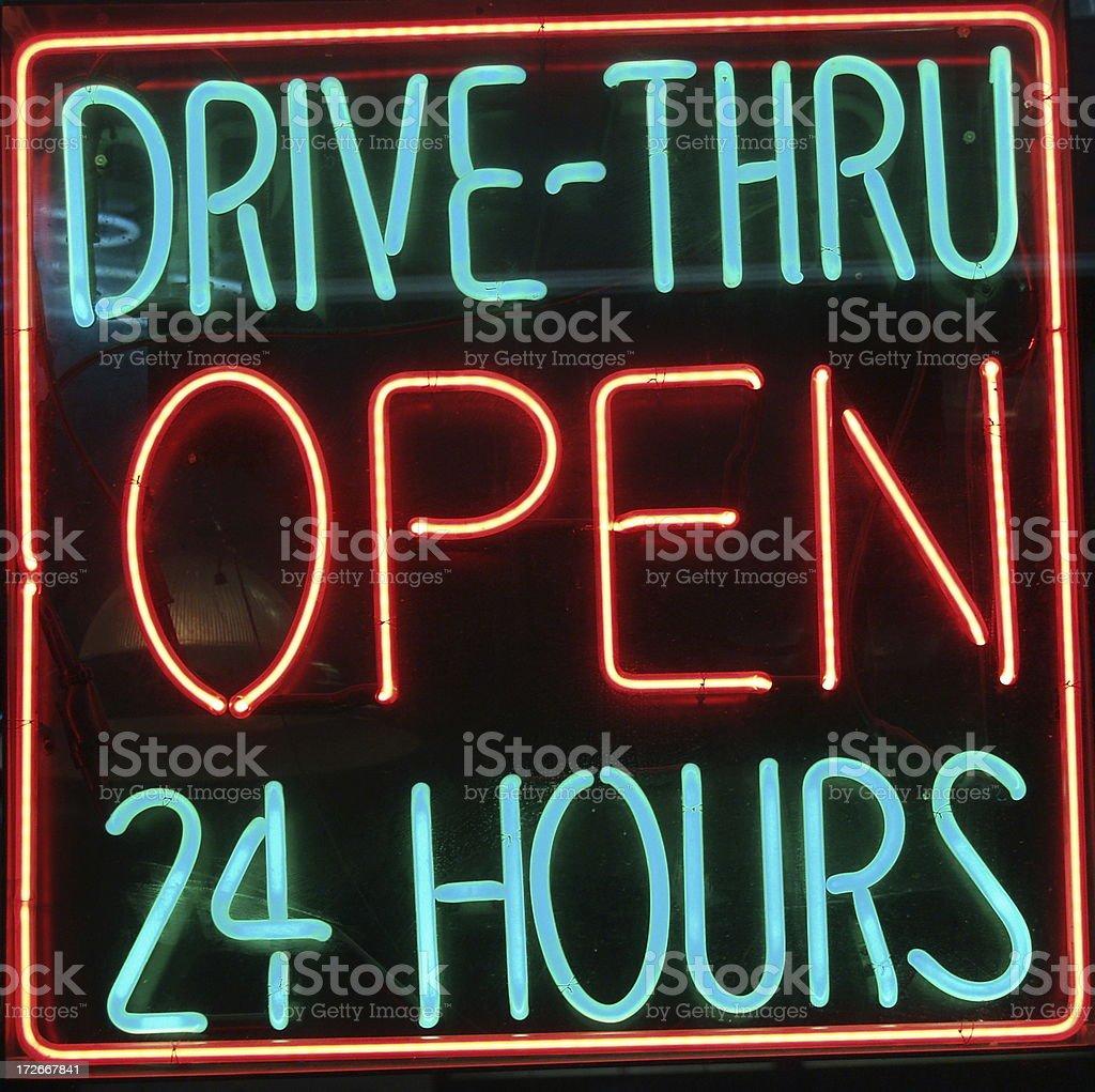 Drive-Thru royalty-free stock photo