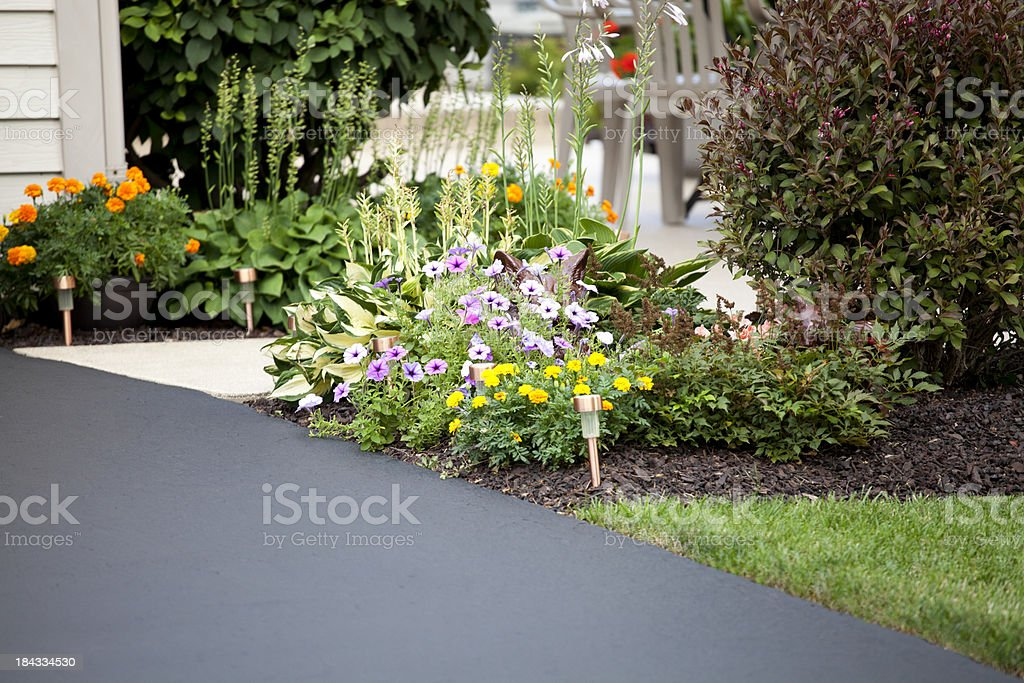 Driveway and entryway stock photo