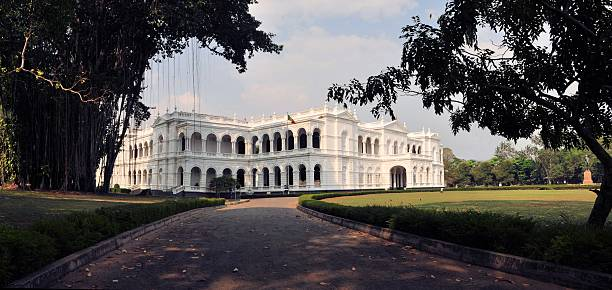 Driveway of Sri Lanka's National Museum stock photo