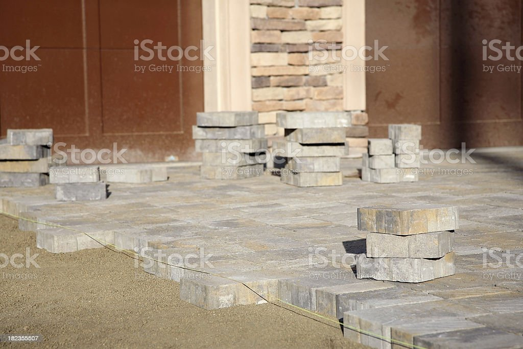 Driveway Paver Construction stock photo