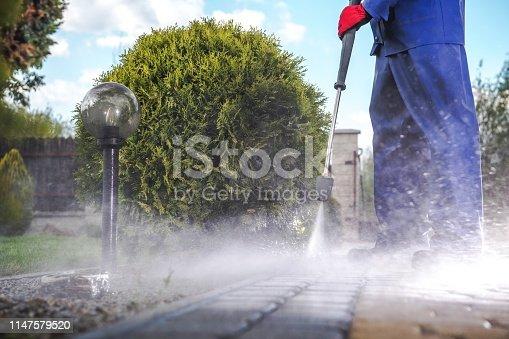 istock Driveway Pressure Wash 1147579520
