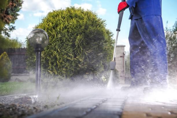 driveway pressure wash - idropulizia ad alta pressione foto e immagini stock