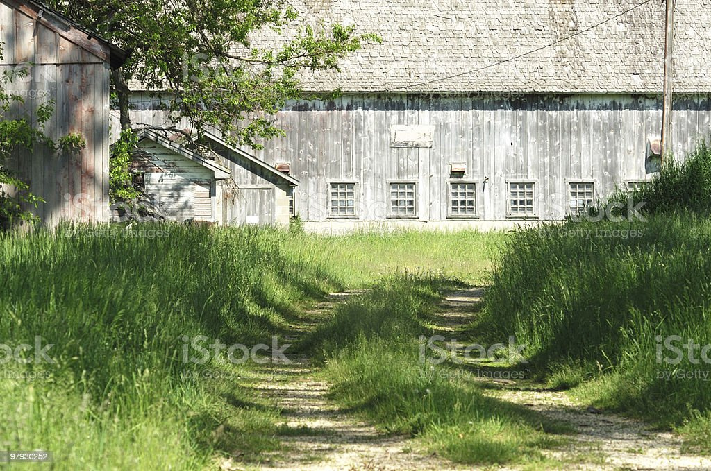 Driveway to the Old Barn royalty-free stock photo