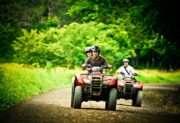 driving 4x4 in costa rica  quadbike stock pictures, royalty-free photos & images