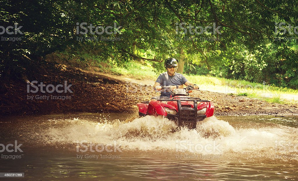driving 4x4 in costa rica stock photo