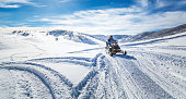 Driving a snowmobile