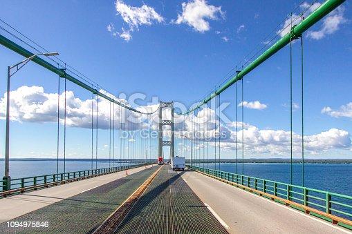 istock Driving Across The Mackinaw Bridge In Michigan 1094975846