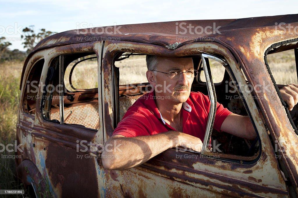 Driving Along stock photo