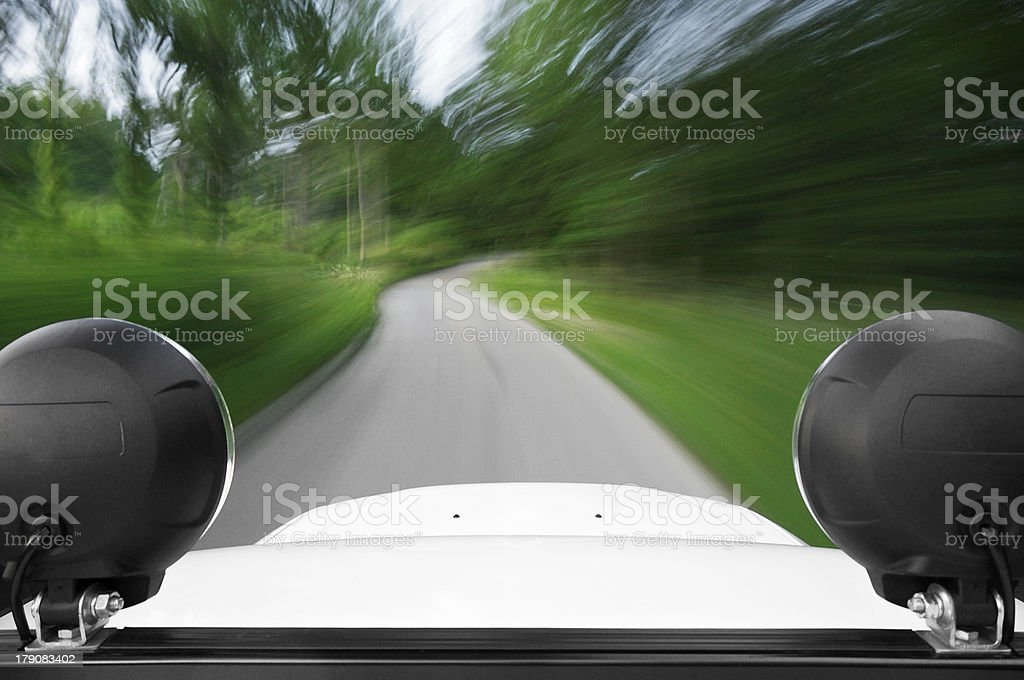 Driving an off-roader royalty-free stock photo
