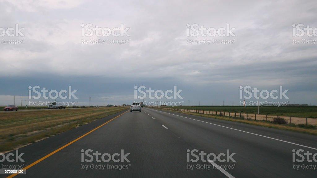 Driving POV California Freeway 4k stock photo